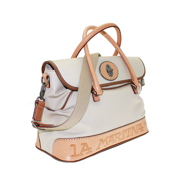 shopping bag beige la martina pw1490352