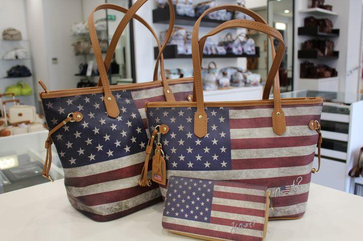 Borse con bandiera americana solo in Valigeria Ambrosetti 08abccb6281