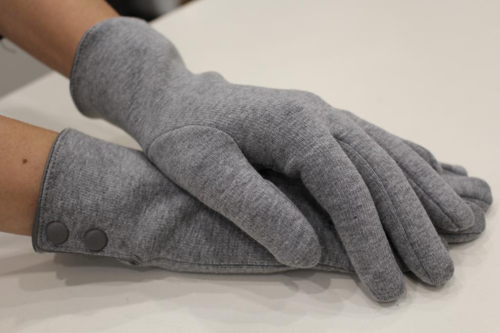 guanti donna in microfibra con bottoni Sergio de Rosa