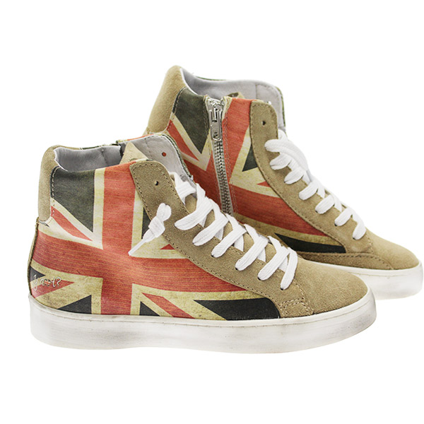 sneakers alte great britain flag ynot ay001