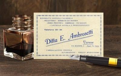 Valigeria Ambrosetti: ieri, oggi, domani