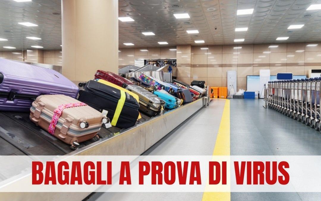 AEROPORTI: nasce l'apparecchio che sanifica i bagagli prima dell'imbarco