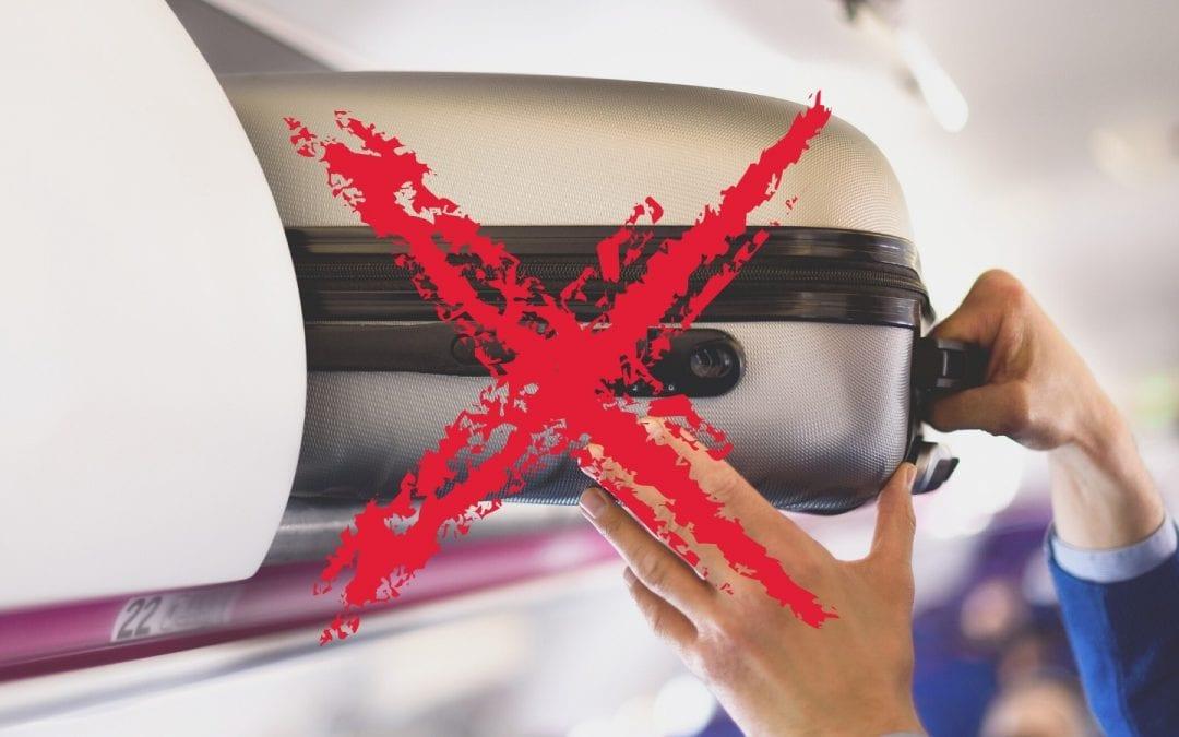 Viaggi in aereo: stop ai bagagli a mano
