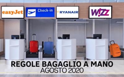 Regole bagagli a mano: ecco tutti gli aggiornamenti di Agosto 2020 per Easyjet, Ryanair e Wizzair