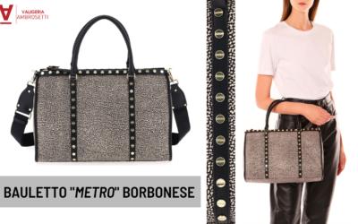 """Borbonese Bauletto """"Metro"""": la borsa più amata ha dettagli unici e diventa ECO"""