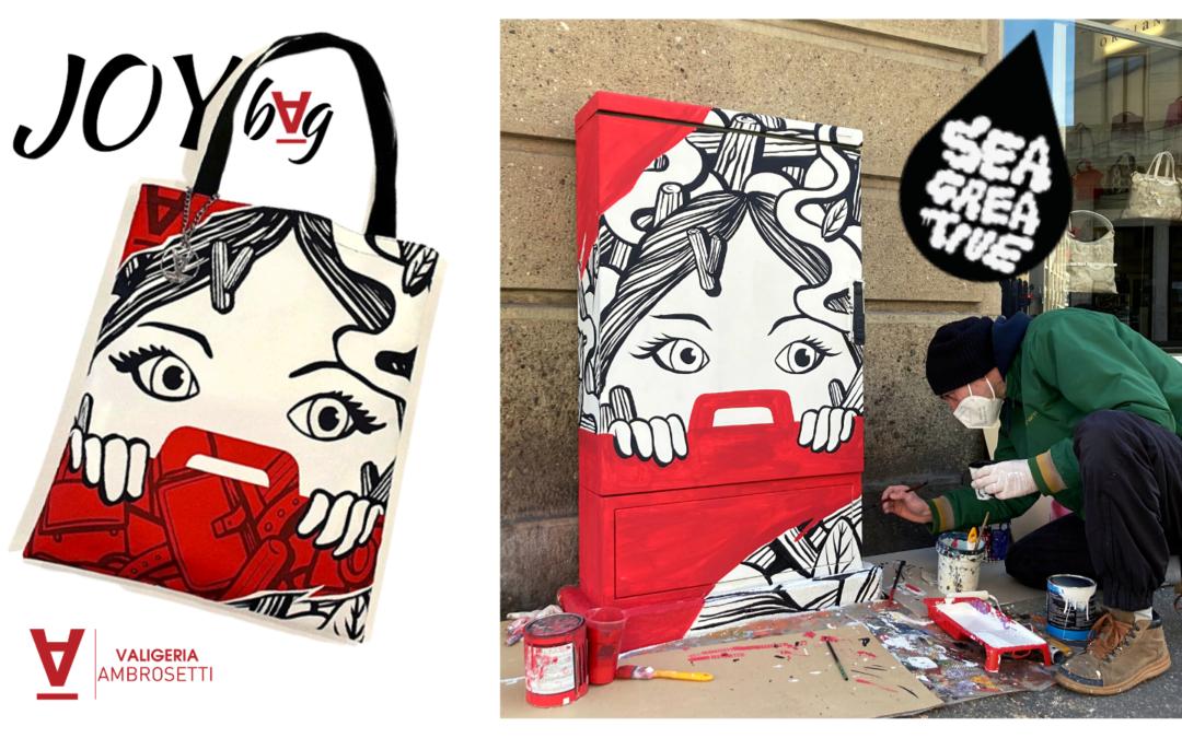 "Joy Bag: la borsa ""Street Art"" realizzata da Valigeria Ambrosetti"