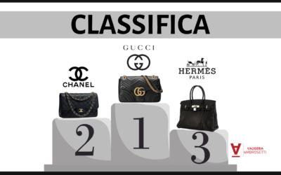 Classifica dei brand di borse più popolari online: vince Gucci, secondo Chanel, terzo Hermés
